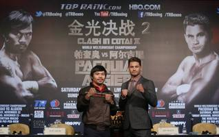 Manny Pacquiao Says He'll Knock Out Chris Algieri Quickly in Next Fight as Floyd Mayweather Jr. Bout Still Up in the Air